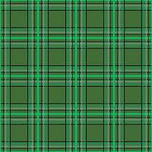 Seamless Checkered Plaid Tartan Green Pattern