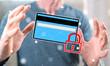 Leinwandbild Motiv Concept of payment security