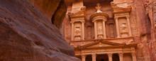 El Tesoro (The Treasury, En árabe Al Khazneh), Cañón As-Siq, Petra, Jordania, Oriente Medio