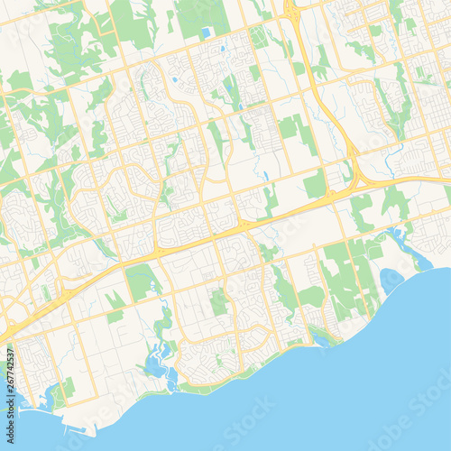 Photo Empty vector map of Ajax, Ontario, Canada