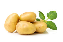 New Potato Isolated On White B...