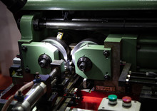 Thread Rolling Machine For Serration Type Working Pieces. Industrial Metalworking Machinery
