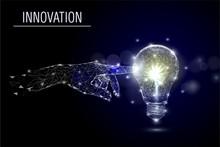 Business Innovation, Vector Polygonal Art Style Illustration