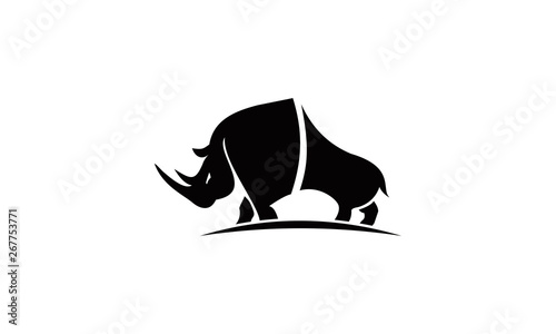 Fototapeta big rhino logo vector