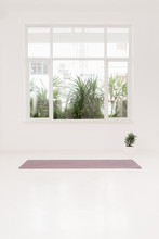 Gym With Yoga Mat On The Floor
