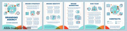 Branding agency brochure template layout Wallpaper Mural