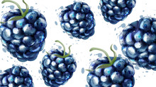 Blackberries Pattern Backgroun...