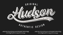 Hudsone. Hand Made Script Type...