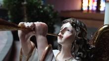 Close Up Statue Of Cherub And ...