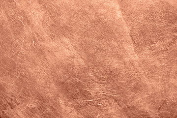 Fototapeta Vintage Abstract brushed copper surface metallic texture. Retro background