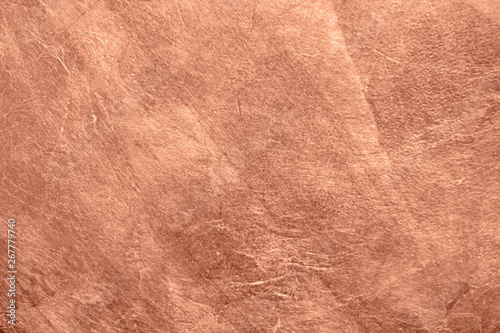 Fototapeta Abstract brushed copper surface metallic texture. Retro background obraz