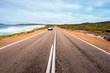 Car driving in Great Ocean Road in Victoria, Australia