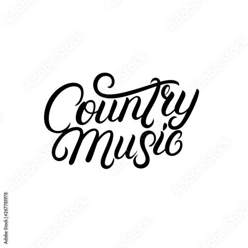 Fotografía  Country Music hand written lettering.