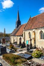 Gonneville-sur-mer. Eglise Notre Dame De L'Assomption. Calvados. Normandie