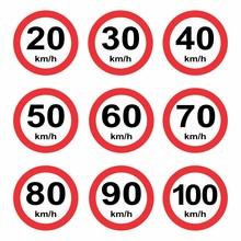 Set Speed Limit Signs