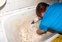 Restoration Of The Bath.Preparation Of The Bath For Enameling.