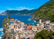 Landscape of Vernazza village in Cinque Terre, Italy.