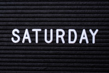 The Word SATURDAY