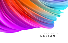 Color Flow Abstract Shape Poster Design. Vector Illustration