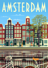 A Street In Amsterdam With Tra...