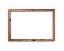 Old Wooden Frame Mockup A4 2x3 Horizontal On A White Background. 3D Rendering.
