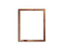 Old Wooden Frame Mockup 4x5 Vertical On A White Background. 3D Rendering.