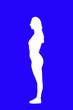 Leinwandbild Motiv mujer en dos tonos y alto contraste