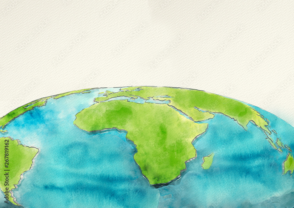 Fototapety, obrazy: Watercolor earth, background