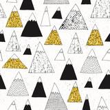 Mountain seamless pattern. Modern design. Vector illustration. - 267824341
