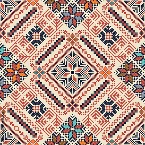 Palestinian embroidery pattern 172 Canvas Print