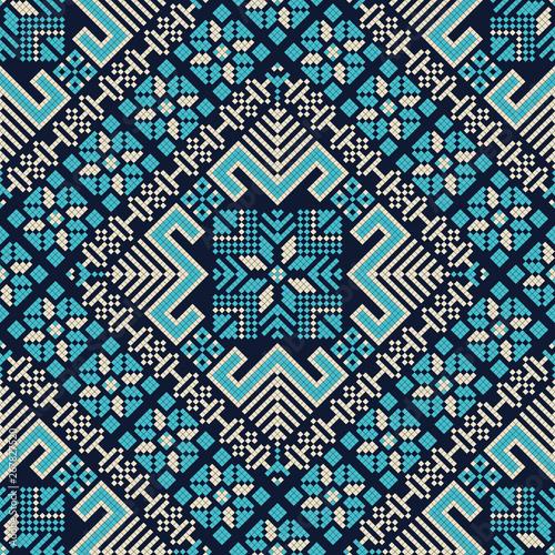 Photo Palestinian embroidery pattern 186