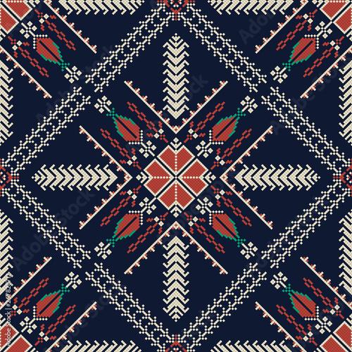 Palestinian embroidery pattern 200 Canvas Print