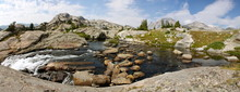 Cascade At Titcomb Basin In Th...
