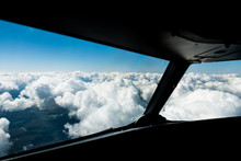 Pilots View Out Of The Cockpit...
