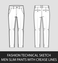 Fashion Technical Sketch Men S...