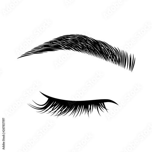 Eyelashes and eyebrows vector logo Fototapeta