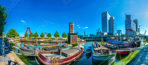 Foto auf Leinwand Rotterdam View of the old port of Rotterdam, Netherlands
