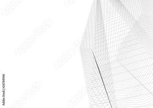 Fotobehang Texturen architecture building 3d