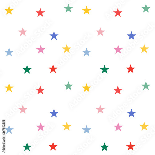 obraz dibond Colorful stars seamless pattern