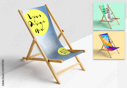 Fototapety, obrazy: Mockup of a Sun Lounge Chair