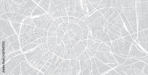 Canvas Print Urban vector city map of Moscow, Russia