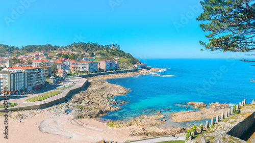 Beautiful village of Bayona (Baiona) in Galicia, north of Spain