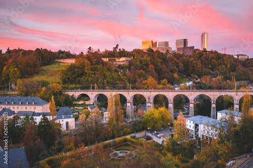 Wall Murals Light pink The city of Luxembourg
