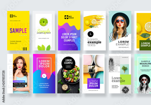 Colorful Social Media Post Banner Layout Kit Buy This Stock Template And Explore Similar Templates At Adobe Stock Adobe Stock