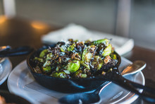 Skillet With Roasted Brussel S...