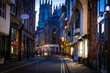 View of York old city in the twilight, England