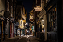Medieval Street Of Shambles In York, England
