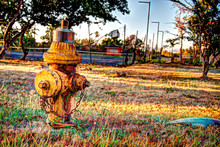 Rusted Fire Hydrant At Abandoned Tennis Court In Puerto Rico