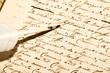 canvas print picture - alte Schrift