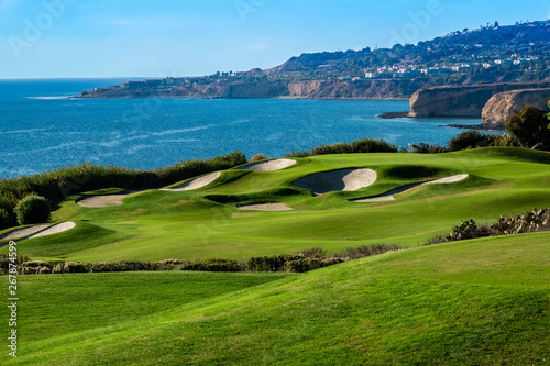 The Trump National Golf Course, in Rancho Palos Verdes along the Pacific coast of California, opened in 2006 Canvas Print